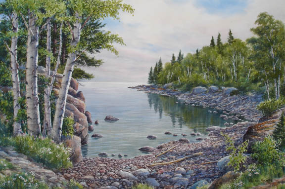 Lake Superior Cove by Russell Norberg